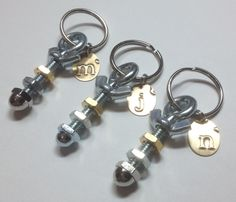 "Inspired by ""Nuts About You"" key chains."