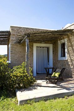 A stone house on Ibiza, Spain, via The Style Files Outside Living, Outdoor Living, Cave House, Rustic Patio, Design Exterior, Ibiza Spain, Stone Houses, Porches, Outdoor Spaces