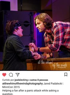 This precious saint. Who was also Lucifer, but mainly a giant teddy bear or puppy. Jensen Ackles, Jared And Jensen, Matt Cohen, Jared Padalecki, Misha Collins, Supernatural Actors, Angels And Demons, Film Serie, Super Natural