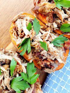 Bacon Garlic Short-Rib Loaded Sweet Potatoes (autoimmune paleo) // TheCuriousCoconut.com