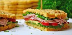 Sunne, proteinrike sandwichvafler – Karoline Marberg Waffle Sandwich, Waffles, Sandwiches, Paleo, Food And Drink, Health Fitness, Education, Health And Wellness, Waffle
