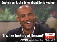 The Talk on CBS! 4m  HOT PHOTO: Rain Rain go away, @boriskodjoe has come to #TheTalk to play!