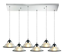 Refraction 6 Light Kitchen Island Pendant