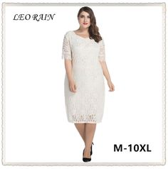 Plus Size M-10XL Solid Elegant Women Lace Dress Summer Half Sleeve Slim  Oversize Dresses c24d0c5e2239
