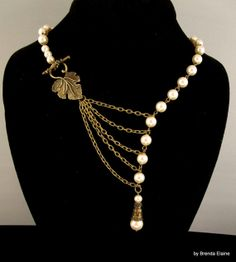 Alluring Pearls and Leaf by byBrendaElaine on Etsy, $38.00