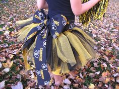 Homemade Tutu! This is a Pittsburgh Steelers one but you could make them any color!