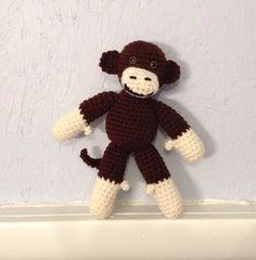 Monkey  Stuffed Animal  Monkey Amigurumi  crocheted by meddywv