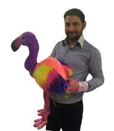 Peluş Oyuncak Gökkuşağı Rengarenk Flamingo 75 cm