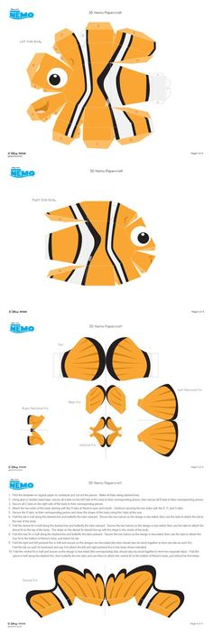 Easy Paper Crafts, Diy And Crafts, Diy For Kids, Cool Kids, Fish In A Bag, Water Party, Paper Models, Paper Toys, Paper Art