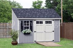 Storage Shed Plans 6' x 12' Deluxe Lean to Slant D0612L Free Material List | eBay