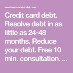 Resolve debt in as little as months. Reduce your debt. Credit Card Offers, Credit Score, Credit Cards, Money Problems, Debt Payoff, Learning To Be, Debt Free, Ways To Save Money, Helpful Hints