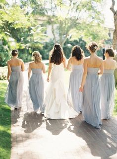 Pale Blue Bridesmaid Dresses - Dessy Group. Beautiful.