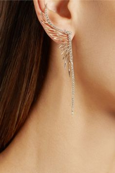 Cristinaortiz 9 Karat Rose Gold Diamond Medium Ear Cuff Jewelry