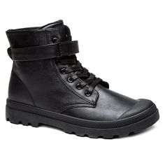 Metal Tie Up PU Leather Boots #jewelry, #women, #men, #hats, #watches, #belts