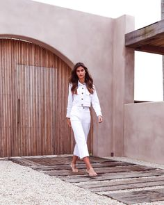 They're officially THE fall outfit essentials we've been searching for! Because let's face it, we're all ready for new season dressing now ;) Item: Tropez Jacket and Pants #boholuxe #tonaldressing #balistyles #fallhaul #howtowear #daytonightlook #autumnhaul #luxuryresortwear #hippiefashion #whiteoutfit #minimaldressing #dailyoutfit #clothesshopping #fallstyle #bohemianfashion #falloutfit #howyouglow #minimalmood #bohocollection #boholook #capsulecollection #tonaloutfit #capsulewardrobe Hippie Style, Bohemian Style, White Outfits, Fall Outfits, Outfit Essentials, Spring Months, White Button Down, Boho Look, White Style