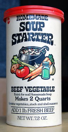 My busy working Mom used to make soup with this sometimes.