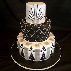 """""""It's All About The Cake"""": Art Deco Themed Wedding Cake"""