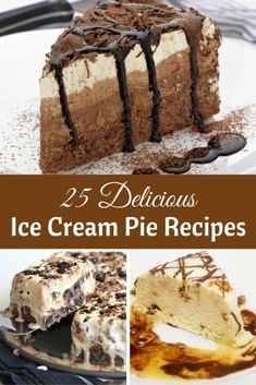 Ice cream pie recipes are one of those easy desserts that you can make any time of year. Switch up the ice cream flavors and toppings for endless ideas.