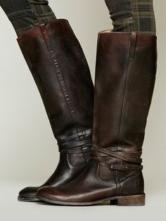 Frye 500 Miles Distressed Tall Boot