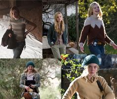 the different outfits with Elle Fanning from We Bought a Zoo. She is this quirky and shy girl who has been around animals her whole life.