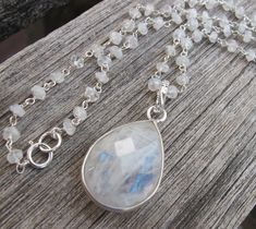 Moonstone Necklace is certainly an eye grabber especially with its glistening rainbow colors