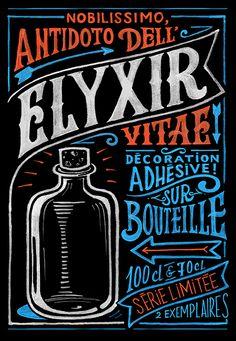 Elyxir by Jü Dzign, via Behance #lettering #type #design