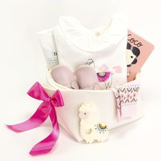 c14d27a9dc85 Baby Girl Gift Basket - Dance a baby llama – Bonjour Baby Baskets - Luxury  Baby