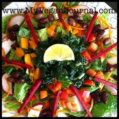 "This vegan salad called ""Sunshine Salad"" looks amazing!"