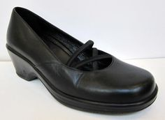 Dansko 'Ballerina' Black Leather Mary Jane Pump Size 39/US 8.5-9 #Dansko #MaryJanes