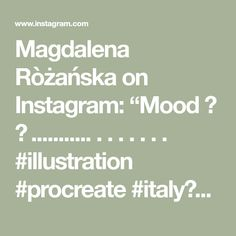 "Magdalena Ròżańska on Instagram: ""Mood 💙 🧡 ........... . . . . . . . #illustration #procreate #italy🇮🇹 #memories #summer #mood #art #composition #contrast #blue #orange…"" Memories, Illustrations, Mood, Instagram, Memoirs, Souvenirs, Illustration, Remember This, Illustrators"