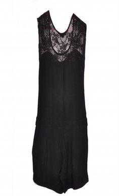 Charlise Black Lace Playsuit