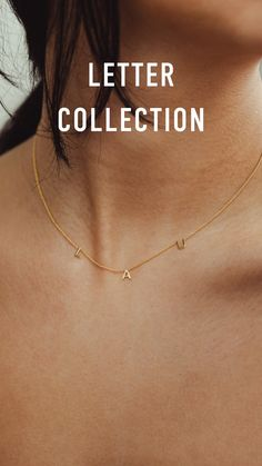 Wear the initials of your loved ones close to you. Personalised Jewellery by Vedder & Vedder. - Add up to 5 letters to our letter necklace. Spell it out with the Letter Collection. Keep the names - Gold Name Necklace, Letter Necklace, Monogram Necklace, Name Choker, Initial Bracelet, Collar Necklace, Dainty Jewelry, Statement Jewelry, Fine Jewelry