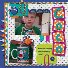 Such a bright and fun layout made with the Merry & Bright kit!