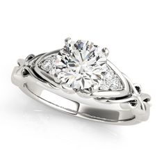 Diamond Engagement Ring with Filigree