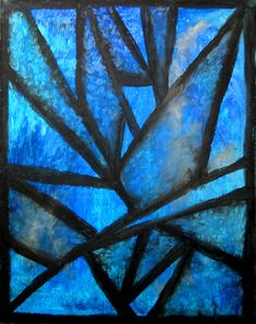 Oil Pastels for Beginners | Icicles - abstract oil pastel drawing