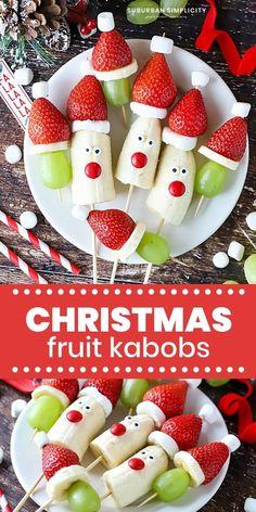 Christmas Party Snacks, Easy Christmas Treats, Christmas Brunch, Christmas Appetizers, Christmas Nibbles, Christmas Desserts Easy, Xmas Food, Christmas Fruit Ideas, Christmas Sweets