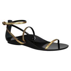 Lanvin gold python sandals (FW SHFM2F PICO E15) - Bledoncy