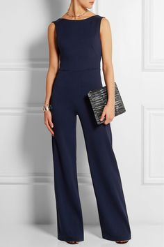 Saloni | Jules backless crepe jumpsuit | NET-A-PORTER.COM