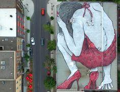 The 10 most popular Street Art pieces of July & August 2016 Urban Street Art, Best Street Art, Urban Art, Street Mural, Street Art Graffiti, Outdoor Sculpture, Outdoor Art, Christian Peter, Hidden Art