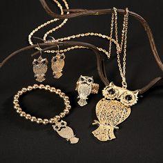 Owl Jewelry - TerrysVillage.com