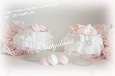 coupelle froufrou à macarons ou Guimauve coordonnés avec ma rubrique froufrou petit stock de disponible pour les coupelles en vente sur http://www.natydecocorse.com