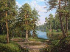 Zaytsev Vitaliy. Lake in the forest