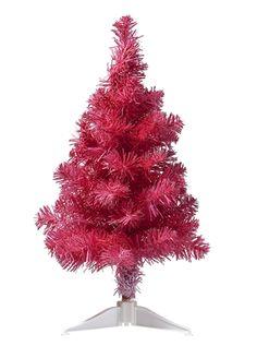 Roze kunstkerstboom, 50 cm hoog en slechts € 5,- bij de #HEMA!