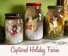 Cathie & Steve {Make. Bake. Celebrate!}: make it: Captured Holiday Fairies