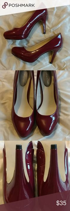 ??Sexy And Comfy Naturalizer Pumps! These pumps have been tried on but never worn! Sexy and comfortable and a gorgeous rich cranberry color!! Comes with a modest platform. Super sexy! Perfect condition! Heel height is 3.75 inches. Size 6M Naturalizer Shoes Platforms