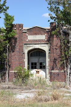 This is an old abandoned school...if you listen hard enough you can hear the faded voices of the children who once attended it.