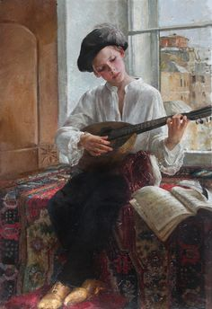 "Natasha Milashevich, ""The boy with a lute"""