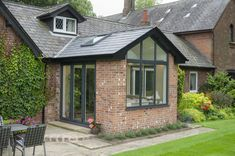 Replace your Conservatory Roof with a Solid Tiled Roof and transform your Conservatory into a comfortable living space. Now available throughout Hampshire. Garage Extension, House Extension Plans, Cottage Extension, House Extension Design, Glass Extension, Extension Ideas, Extension Google, Side Extension, Small Conservatory