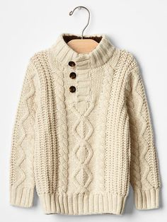 Sherpa mockneck cable sweater Product Image