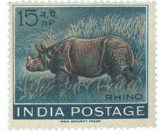 Rhinoceros stamps | Postage stamp collecting